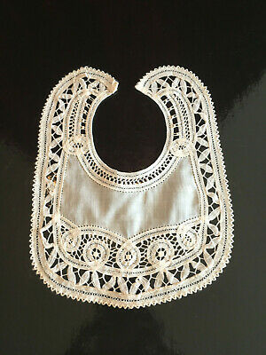Antique Hand Made Lace Infant Baby Bib