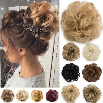 LARGE Curly Messy Bun Hair Piece Wrap Scrunchie Thick Hair Updo Extensions Remy