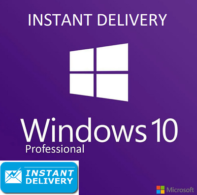 Microsoft Windows 10 Pro Professional 32/64bit Genuine License Key Instant 30s