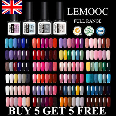 LEMOOC UV Nail Gel Polish Soak Off LED Base Matte Tempered Top Coat - FULL RANGE