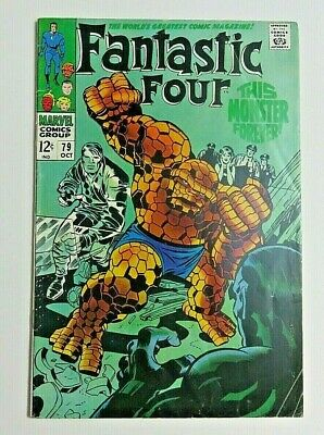Fantastic Four #79 Comic Book ~ 1968 Marvel Silver Age ~ Fn