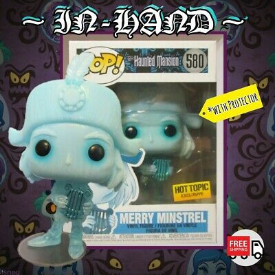 FUNKO POP Haunted Mansion Merry Minstrel Harp Guy Hot Topic CONFIRMED +Protector