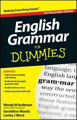 NEW English Grammar for Dummies By Wendy M. Anderson Paperback Free Shipping