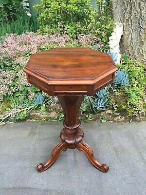 Beautiful Antique Victorian Rosewood Sewing / Lamp / Side Table!