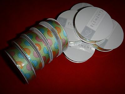 10 AMERICAN CRAFTS ELEMENTS Premium Ribbon Spools For Gift Wrapping Unopened