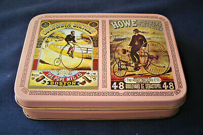 HOWE Double Deck Playing Cards Set TIN Old Fashioned Columbia Bikes SEALED NIB
