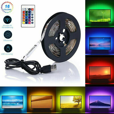 1-5m Ruban LED Bande USB 60 LEDs 5050 RGB LED TV Light Strip Flexible Noël Déco