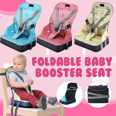 Baby Toddler Feeding Chair Foldable Dining High Booster Seat With Harness US ❤
