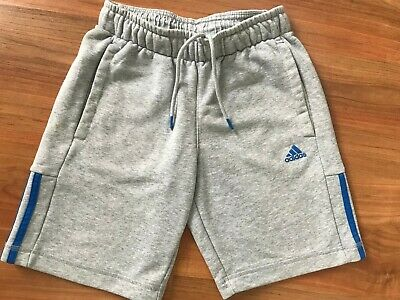 BOYS Grey BLUE Cotton ADIDAS SHORTS (age11-12) *L@@K*