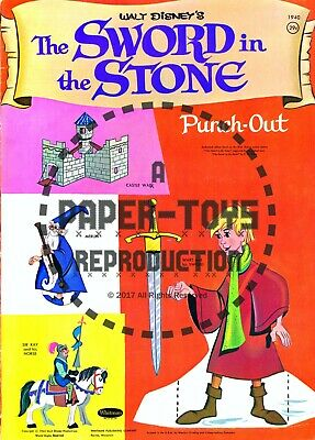 1961 REPRODUCTION POPEYE/'S PLAYBOOK PUNCH-OUT BOOK VINTAGE REPRINT