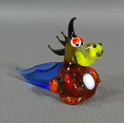 "1960 Italian Murano Hand Blown Glass Dragon Animal Figurine Figure 2.5""Sculpture"