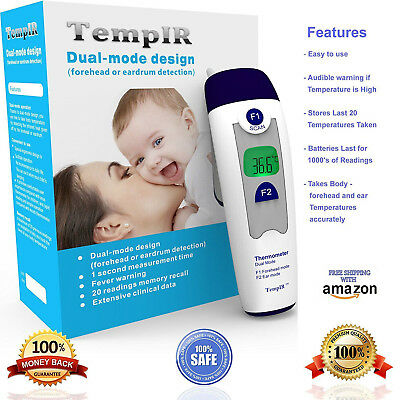 TempIR Best Baby Thermometer - Forehead and Ear Thermometer