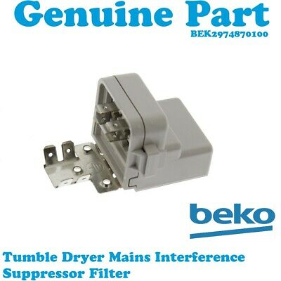 BEKO DCU8230W DCUR701W Tumble Dryer Mains Interference Suppressor Filter