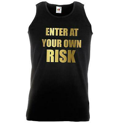 Unisex Black Enter At Your Own Risk Vest Cheeky Funny Gift