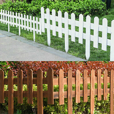 Wooden Garden Picket Wicket Fence Panels Lawn Border Edge Edging Fencing
