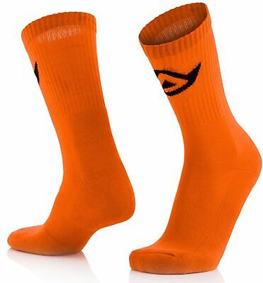 Acerbis MX Socken Cotton Fluo Orange S/M Knöchellang