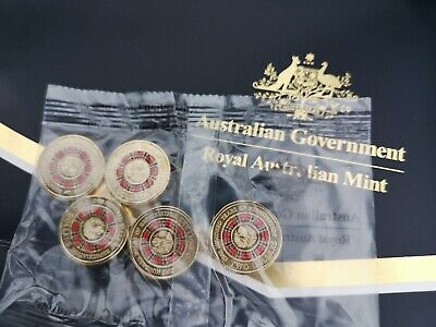 2019 100 Years Of Repatriation $2 coin Sealed Mint Bag Sachet 5 colour Coins