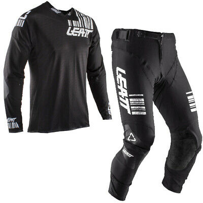 Leatt Gpx 5.5 Black White Motocross Kit Combo