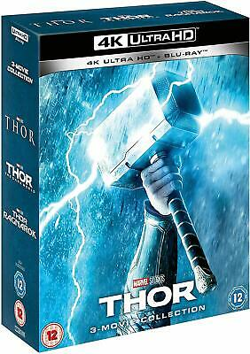 THOR 1-3 3 Movie Collection 4K Ultra HD +  Blu-Ray BRAND NEW Free Ship UHD