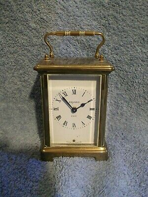 "Vintage Bayard ""French""  brass 8 day carriage/mantel clock - WO"