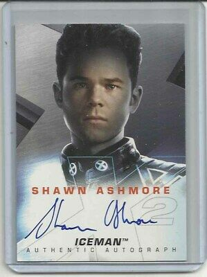 "2003 X-Men 2 (Movie) SHAWN ASHMORE ""Autograph Card"" NO# as Iceman"