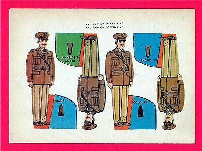 Old Military Soldiers Cut Outs Cereal Premium Toys Lieutenant Lt Colonel Major
