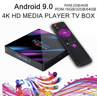 H96 MAX RK3318 Android 9.0 2/4GB+16/32/64GB Quad Core 4K HD-MI TV Box Wifi I9S5