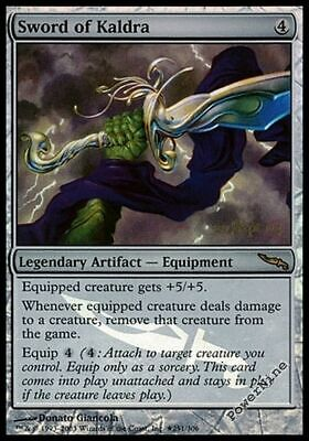 1 PROMO FOIL Sword of Kaldra - Artifact Prerelease Mtg Magic Rare 1x x1
