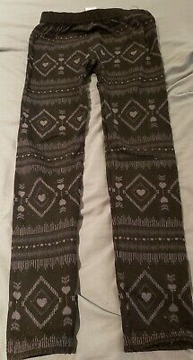 Girl's Black & Gray Leggings [The Children's Place] Size 7/8