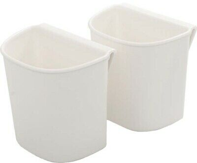 White - We R A La Cart Small Hanging Cups 2/Pkg