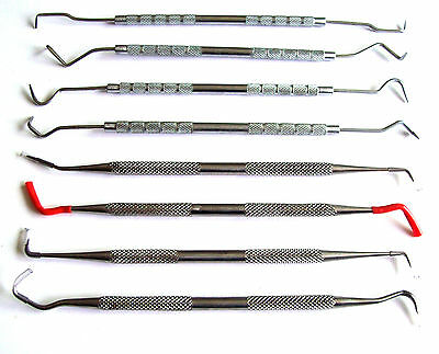 8pc DENTAL PICK & PROBE SET STAINLESS STEEL PICKS