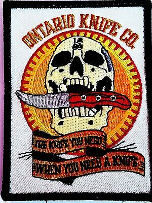 Ontario Knife Co The Knife You Need When You Need It Patch NEW Military