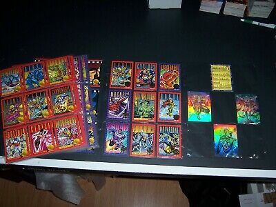 1993 Marvel Xmen Comic Cards Base Set 30 year inserts Holograms H1 H2 H3