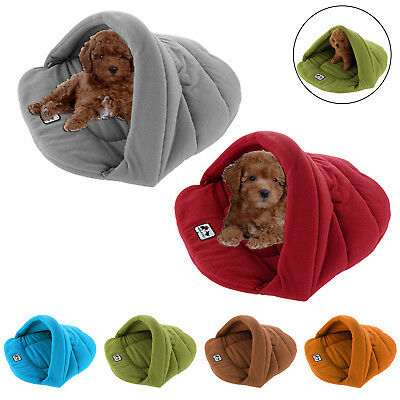 HI-Q Pet Cat Dog Nest Bed Puppy Soft Warm Cave House Sleeping Bag Mat Pad XS - L