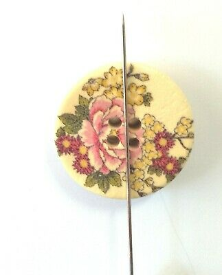 Needle Minder for Crosstitch Needle Keeper Magnetic  Large Round Floral