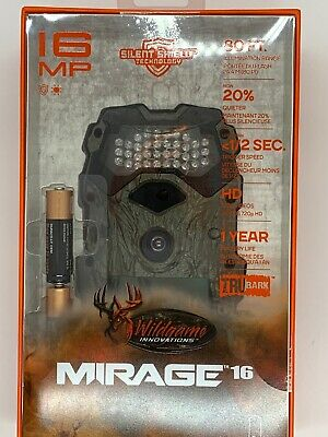 Wildgame Innovations Mirage 16 16MP 720p Hunting Game Camera & Batteries, Camo