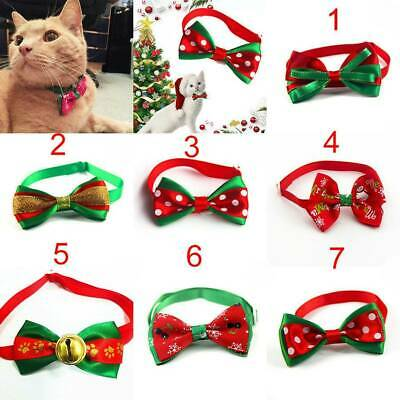 Cute Christmas Dog Cat Pet Puppy Bow knot Necktie Collar Bow Tie Clothes Decor