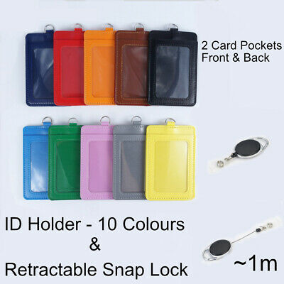 Retractable - Lanyard ID Card Holder Business Badges Security Pass EOFY Key