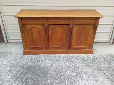 Antique Style French Oak 3 Drawer 3 Door Sideboard Buffet With Corbels