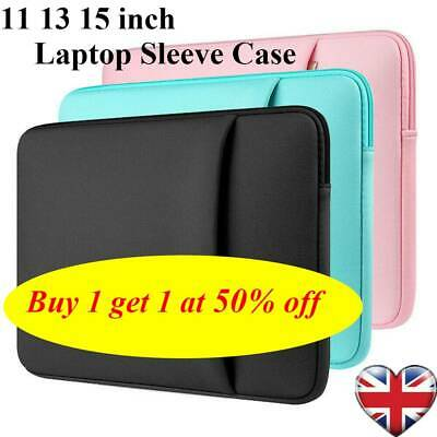 Soft Laptop Bag Sleeve Case Notebook Cover For MacBook Air Pro Lenovo 11-15.6''