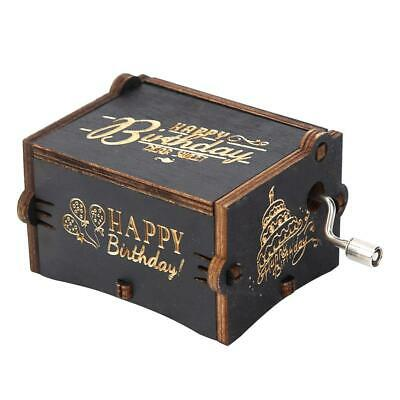 Retro Vintage Wooden Hand Cranked Music Box Home Crafts Ornaments Decor NEW