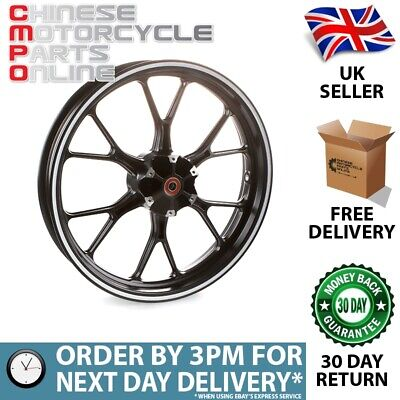 Black & Silver Motorcycle Wheel (Front) for UM (MFW068)