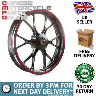 Black & Red Motorcycle Wheel (Front) for UM (MFW069)