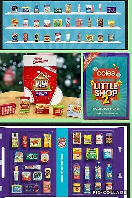 Coles Little Shop Mini Collectables 2 SINGLE & COMPLETE SETS & CASES CHRISTMAS !