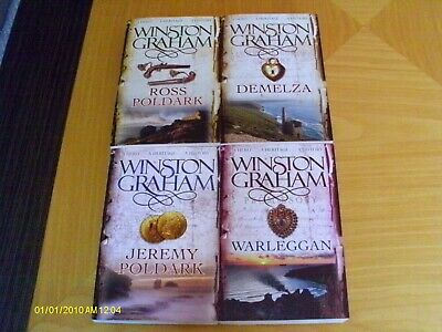 WINSTON GRAHAM - POLDARK  x 4 - NUMBERS 1 - 4 - PAPERBACK PB - EX CONDITION