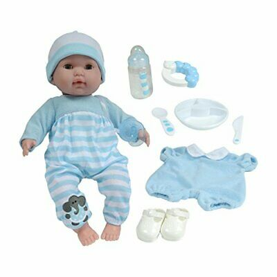 JC Toys Berenguer Boutique 15 Soft Body Baby Doll - Blue 10 Piece Gift Set wi...