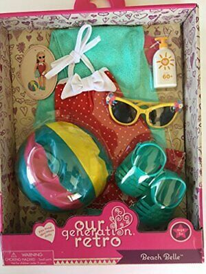 NEW Our Generation Retro Beach Belle outfit wball for most 18 Dolls