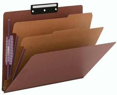 Smead Pressboard Classification File Folder with SafeSHIELD Fasteners and 13-...