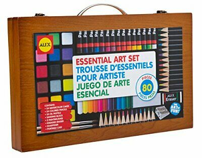 ALEX Toys Artist Studio Portable Essential Art Supplies Set with Wood Carryin...