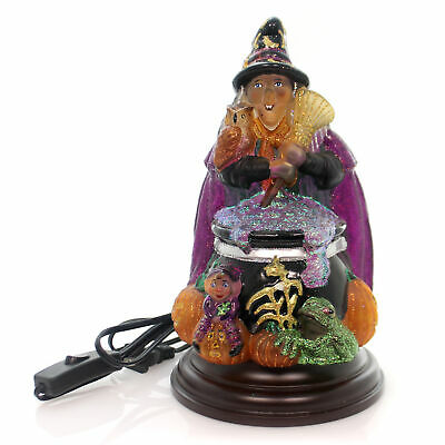 Old World Christmas WITCH WITH CAULDRON LIGHT Glass Iridescent Glitters 529775
